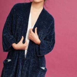Navy Blue Anthropologie Chinelle Cardigan